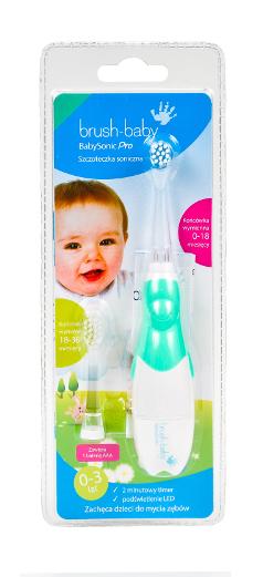 Zdjęcie opakowania szczoteczki sonicznej brush-baby BabySonic