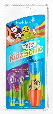 Zdjęcie opakowania szczoteczki sonicznej brush-baby KidzSonic